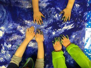 children in sensory activity