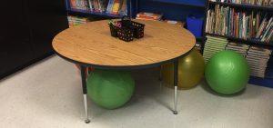 Yoga Balls as Alternative Seating