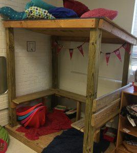 Sit in the loft as an alternative seat